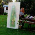 Big Bottle im Garten